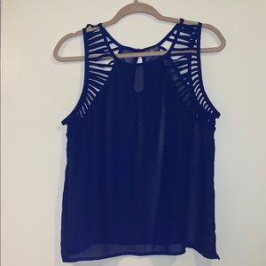 Blue Charlotte Russe sleeveless blouse